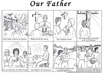 Catholic vacation bible school growing with the saints for God is our father coloring pages