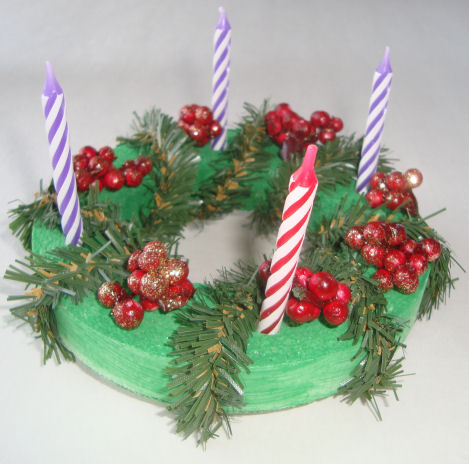 Advent wreath craft for kids