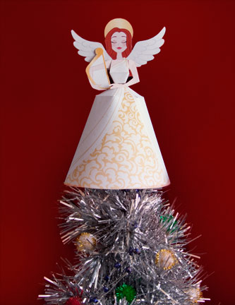 Find this Printable Angel Tree Topper on Family Fun .