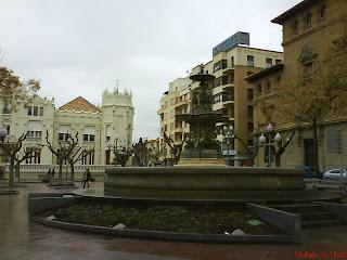 Plaza de Navarra el Casino Huesca
