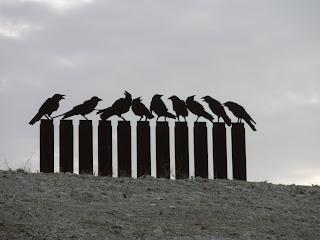 los pájaros escultura colina de Valdespartera