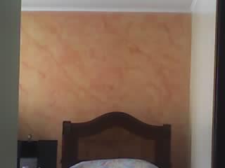 textura en 45% al oleo en muro alcoba