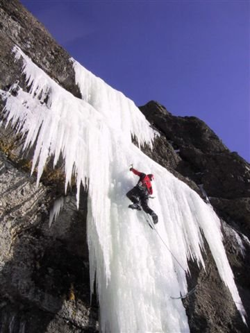 climb on the ice