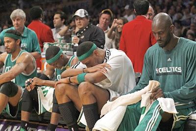 Banquillo de los Celtics