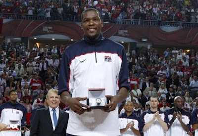 Durant MVP Mundobasket 2010