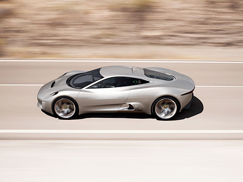 Jaguar's C-X75 Concept Show Paris
