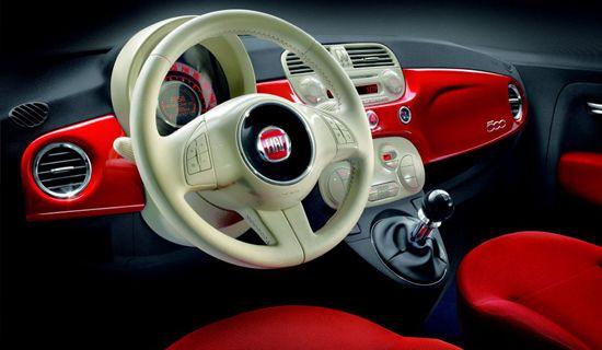 Fiat 500 TwinAir Design Interior
