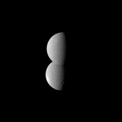Dione and Rhea together