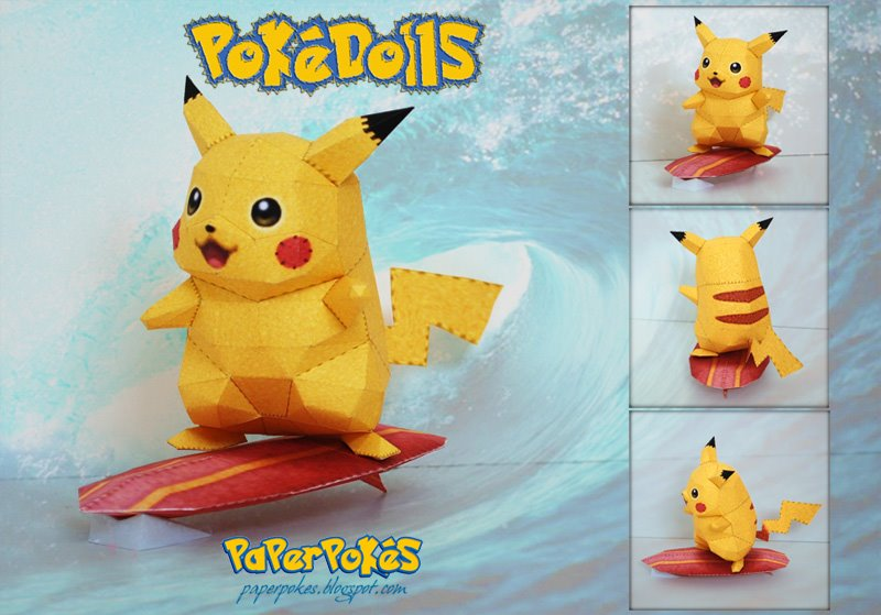 Pokemon papercraft - Pokemon Voltage - 3DJuegos