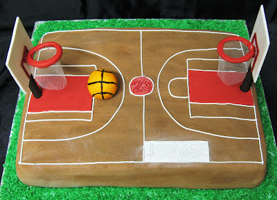 Basketball Court Cake Images : Sugarcraft by Soni: Birthday Cakes: Basket Ball Court & A ...