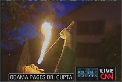 Sanjay Gupta CNN Reliable Sources January 11, 2009 fire eating