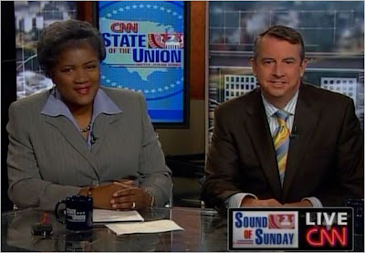 Donna Brazile Ed Gillespie CNN State of the Union with John King August 9, 2009