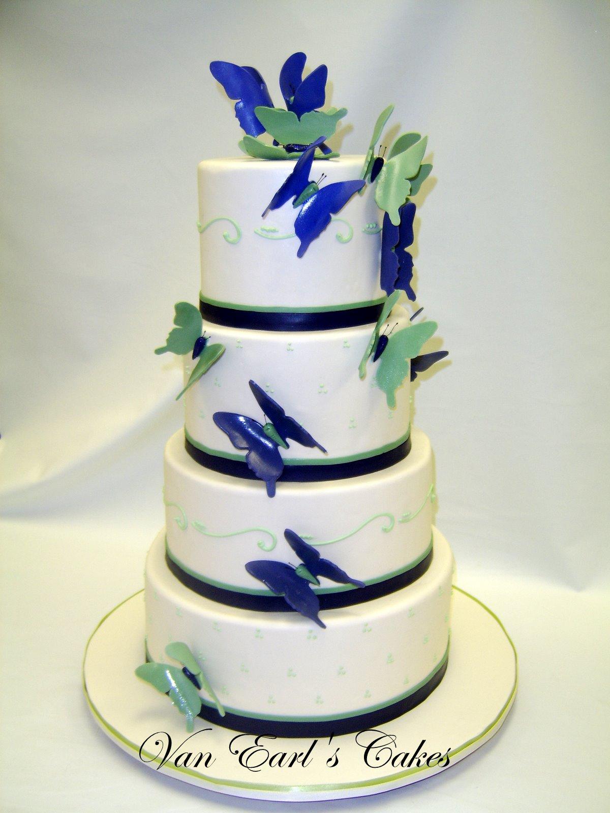 Van Earl\'s Cakes: Butterfly Theme Wedding