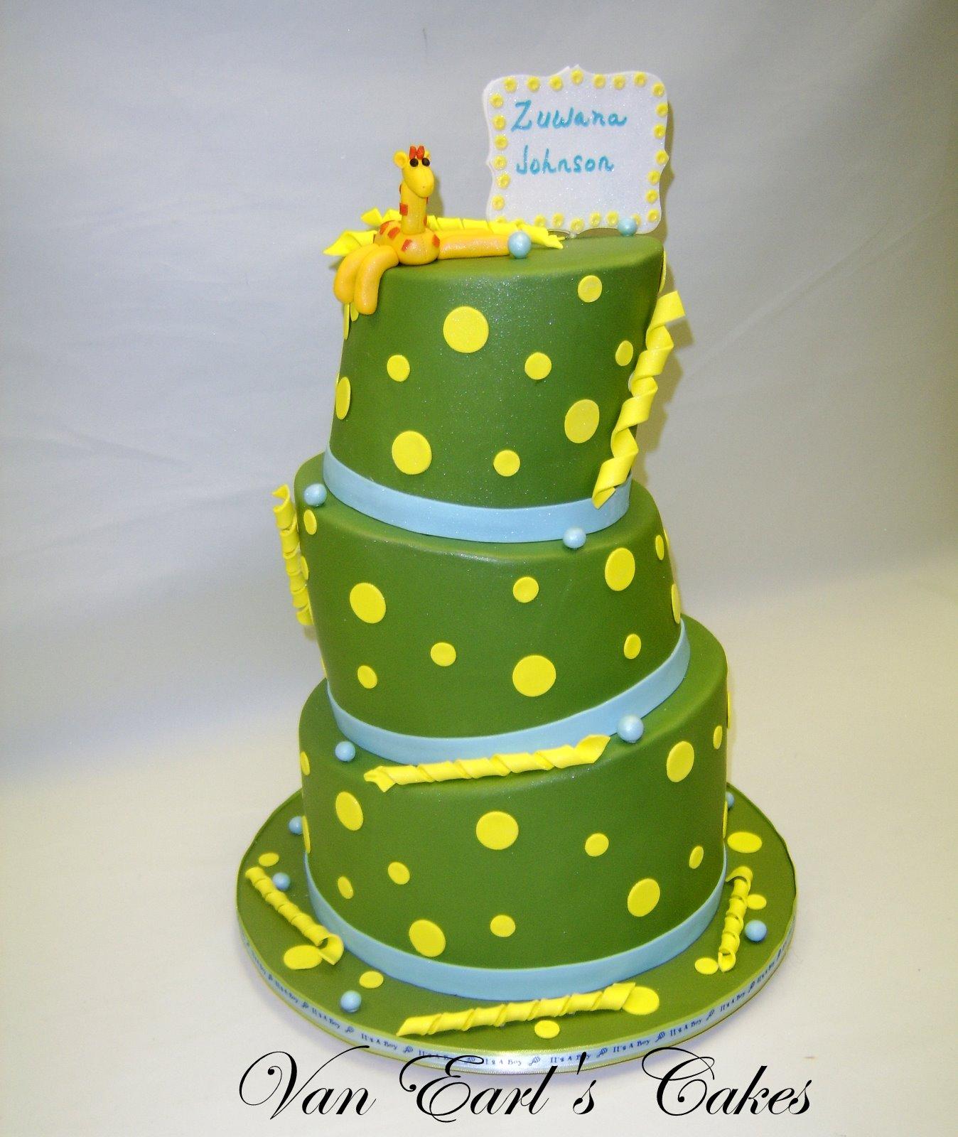 van earl 39 s cakes topsy turvy giraffe baby shower cake