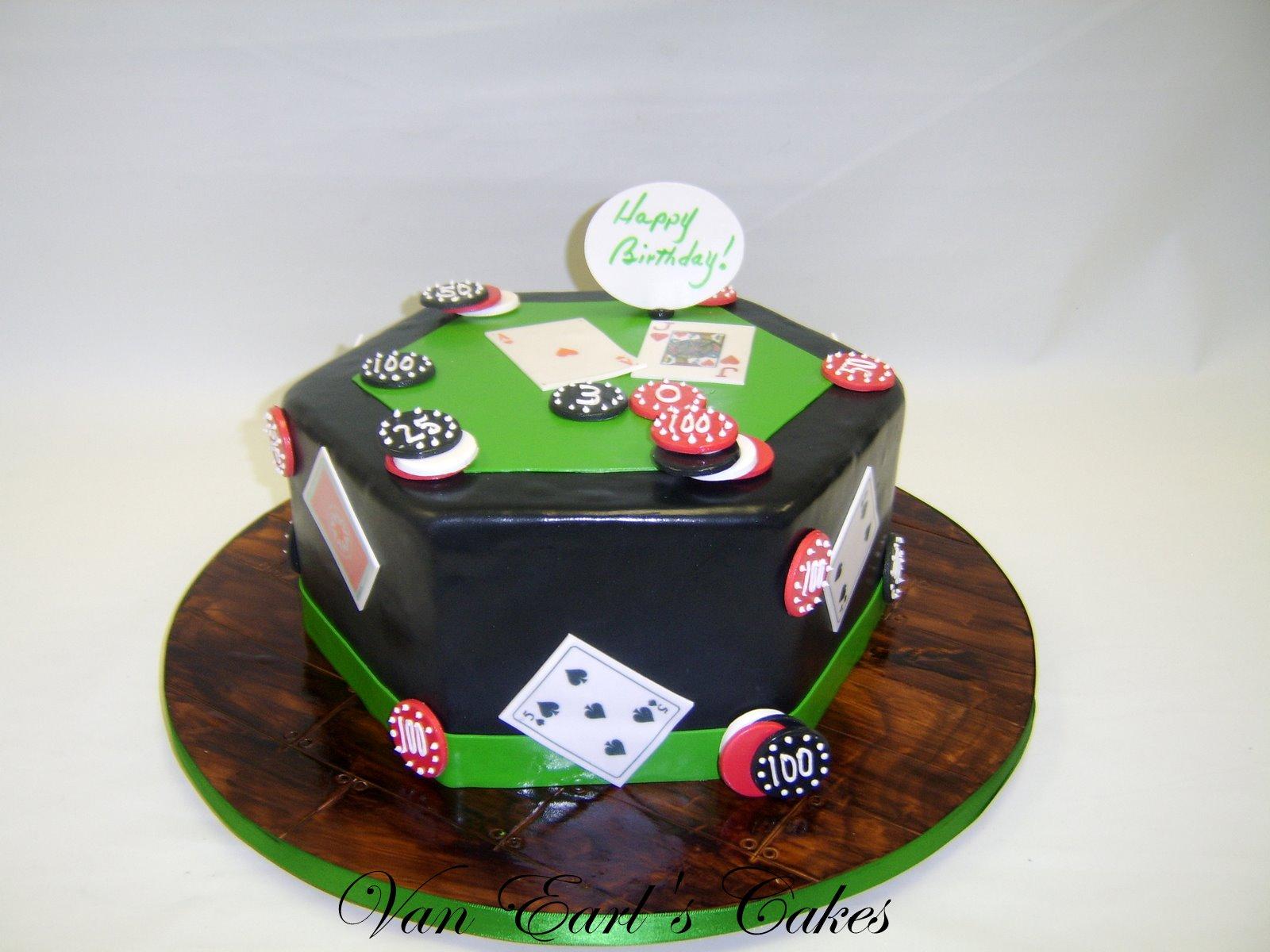 Van Earls Cakes Poker Table Birthday Cake