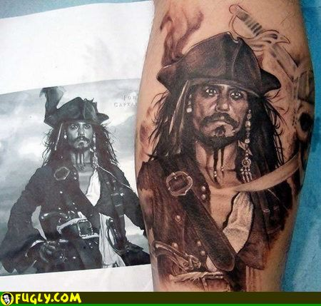 Design tattoo jack sparrow for Captain jack sparrow tattoo