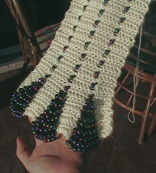 The Hook Hound Beaded Crochet Scarf Current Works In Progress