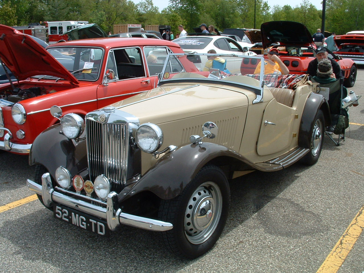 It is a 1952 MGTD brought to