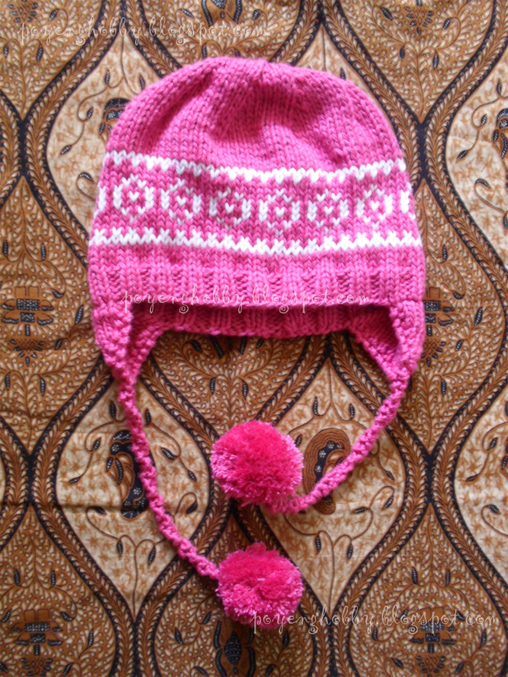 Knitting Pattern Baby Hat With Ear Flaps : Ajeng Belajar Merajut: Rajut Free Knitting Pattern : Ear Flap Hat with motive