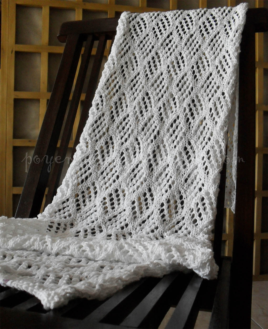 Free Knitted Lace Patterns : Ajeng Belajar Merajut: Rajut Free Knitting Pattern : Interlude Lace Wrap