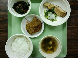 写真:初日の夕食。