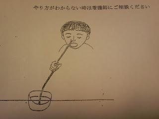 写真: 鼻洗浄している子どもと思われるイラスト
