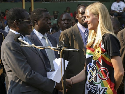 Kirsty Coventry Being Awarded $100,000 By President Robert Gabriel Mugabe