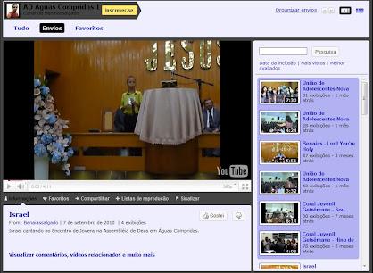 Canal de Vídeos da AD em Águas Compridas