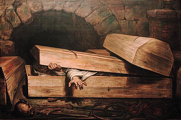 Antoine Wiertz, The Premature Burial, 1854.