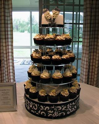bridal shower cupcake tower