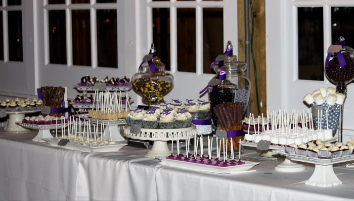 Last night I had the honor of creating a sweets table and wedding cake for