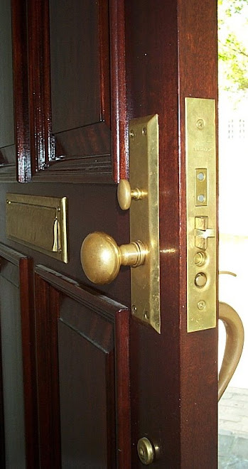 "Mortise Lock ""As if it grew out of the door."""