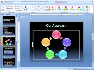 slide powerpoint có nhiều màu sắc
