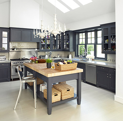 A perfect gray friday delights charcoal gray cabinets for Dark gray kitchen cabinets