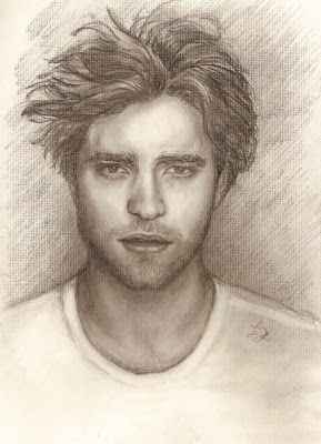 Robert Pattinson Drawing on Cullen Boys Anonymous  This Robert Pattinson Sketch Is Amazing