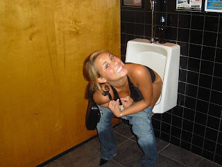 teen pee in men toilet