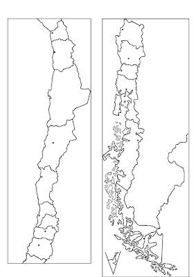 Documentacin para la didctica libart mapa poltico de chile 15 mapa poltico de chile 15 regiones sciox Choice Image