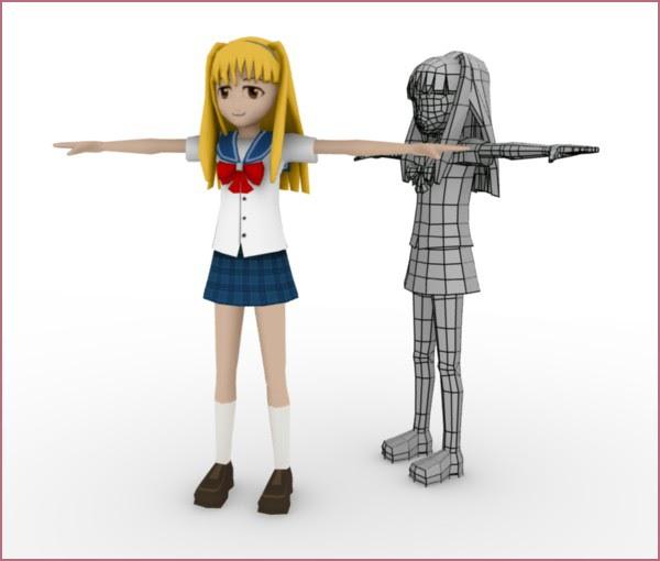 Blender Character Modeling 4 Of 10 : Blender d modeliser un manga avec
