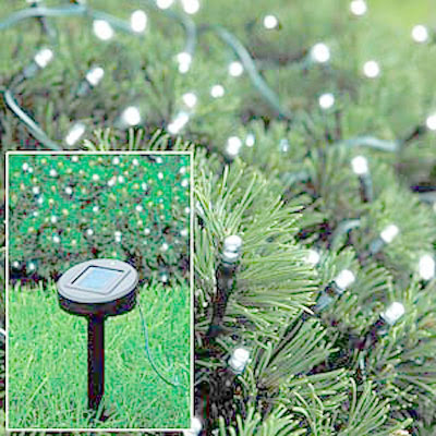 solar christmas tree lights
