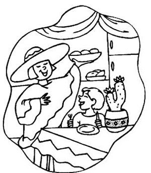 Christmas in Mexico Coloring Pages