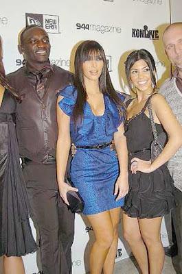 Kim Kardashian 944 Magazine Akon Dinner Photos