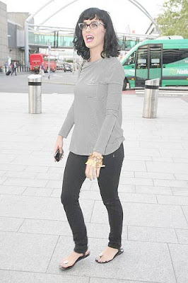 Katy Perry Heathrow Airport
