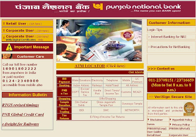 PNB Net Banking Login - Punjab National Bank Online