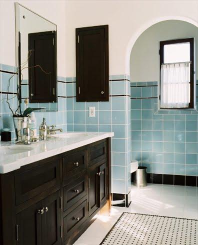 Vintage Bathroom Vanity on Vintage Tile Bathroom