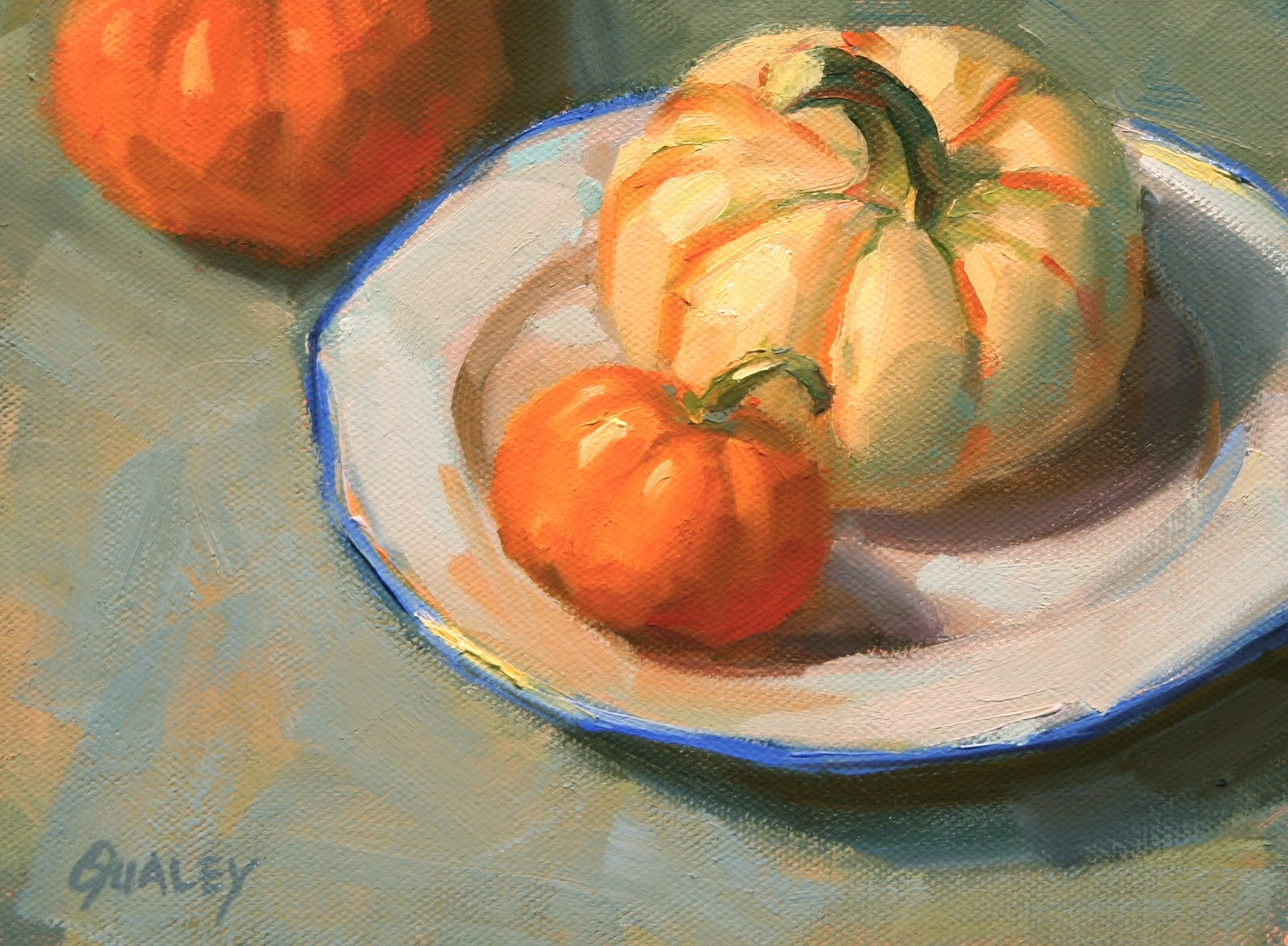 sara qualey paintings recent small paintings who can resist those little pumpkins that show up in the grocery store in the fall tiny pumpkins is about circles sometimes in a still life i put in a