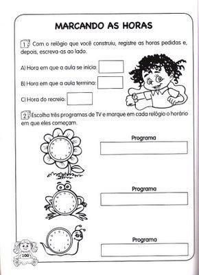 Alfabetizando%2Be%2BConstruindo%2BVol%2B3%2Bp%25C3%25A1g%2B100%5B1%5D Atividades de Matemática: Medidas de tempo. para crianças
