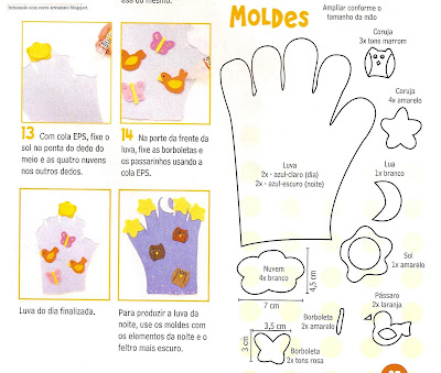 fantoche10008 Fantoche: Luvas de feltro. para crianças