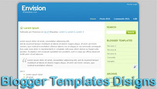 Theme Envision Blogger Template  XML Web 2.0