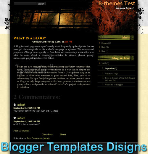 Theme Rainbow Garden Blogger Templates