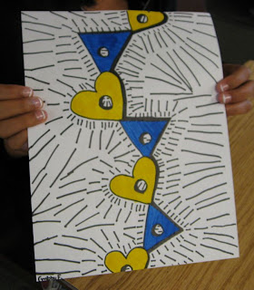 art with mrs smith stacked shapes op art